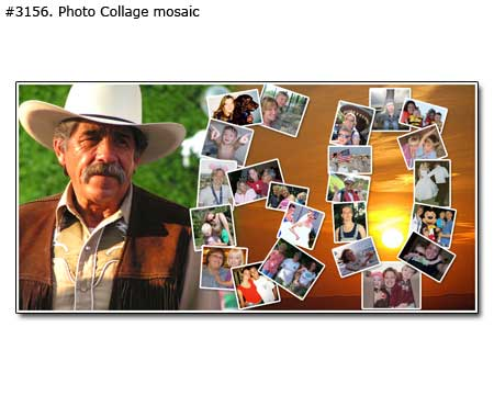 Happy 60 birthday collage mosaic