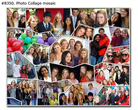 Sweet 16th sister birthday collage mosaic