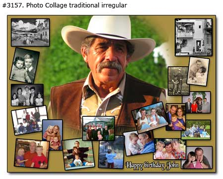 Happy birthday John collage traditional