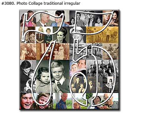Happy 75 birthday collage classic
