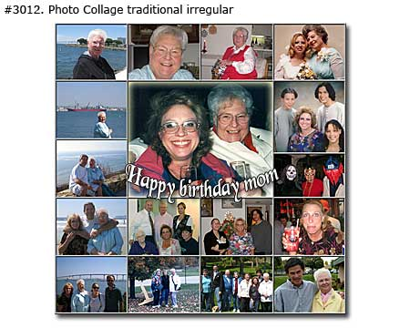 Happy birthday collage for mom