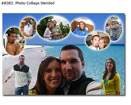 Custom Couple Photo Collage for dating and married couples