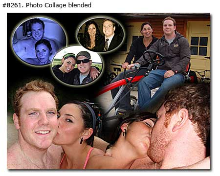 Love Kiss Couple Collage blended