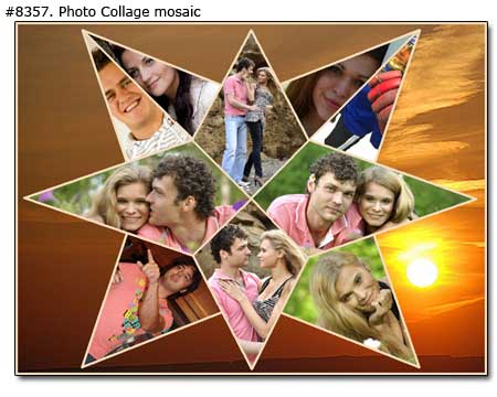 Star couple collage mosaic
