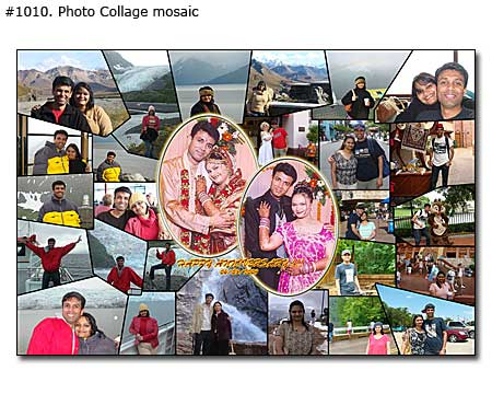 Happy wedding anniversary collage for married Indian couple