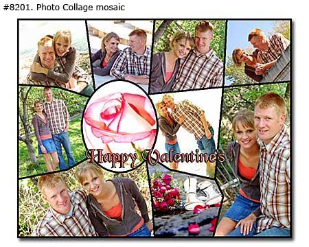 Happy Valentines couple picture montage