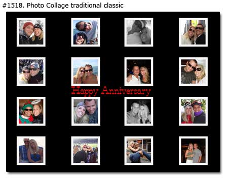 Collage of couple on happy anniversary