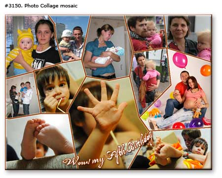 Custom collage poster from children photographs