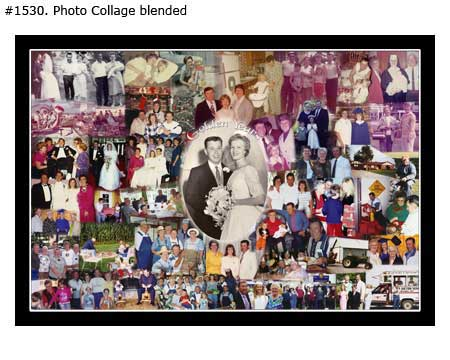Wedding photos to collage – anniversary gift ideas
