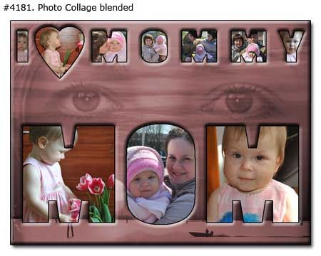 Family collage - I love mommy