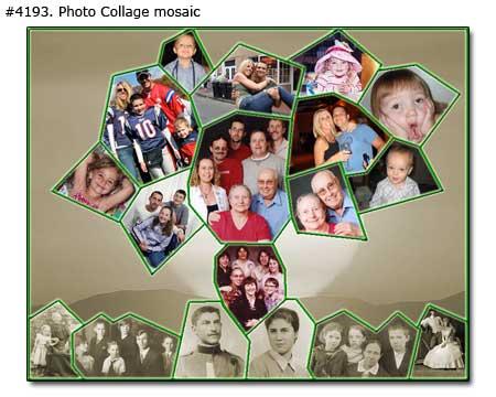 Genealogy family history tree collage