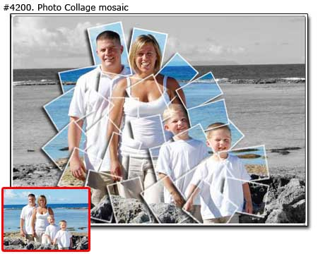 Mom, dad & kids � one photo collage