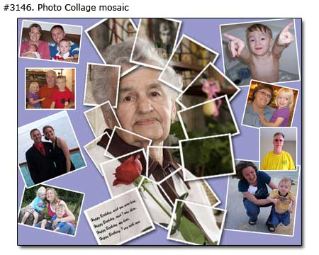 Happy birthday grandma collage mosaic