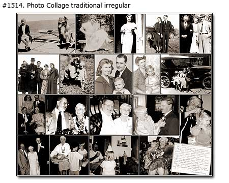 Dad history research collage traditional