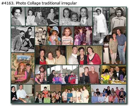 Family photo collage design classic