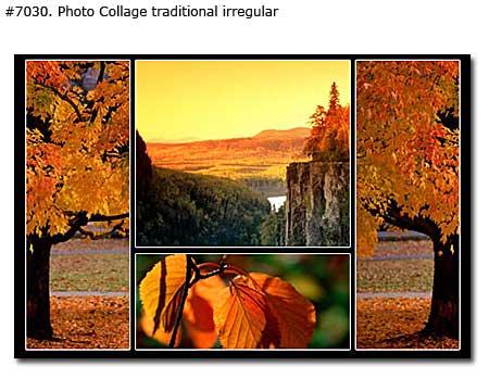 Nature Warm Autumn Collage traditional irregular
