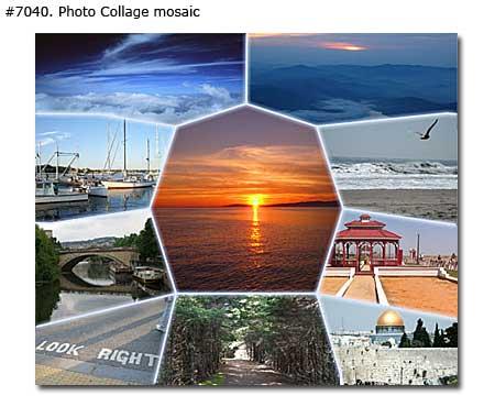 Vacation Landscape Photomontage mosaic