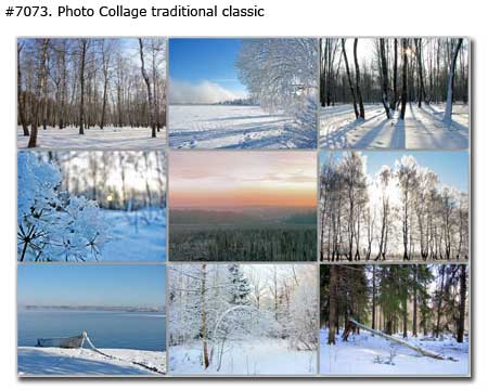 Winter Landscape Collage traditional classic