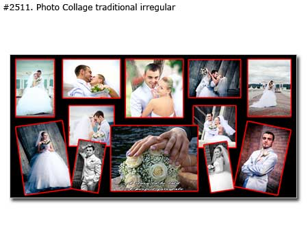 Custom wedding panorama photomontage traditional irregular
