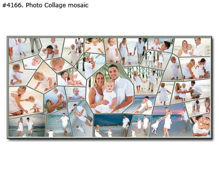 Family panoramic photomontage mosaic