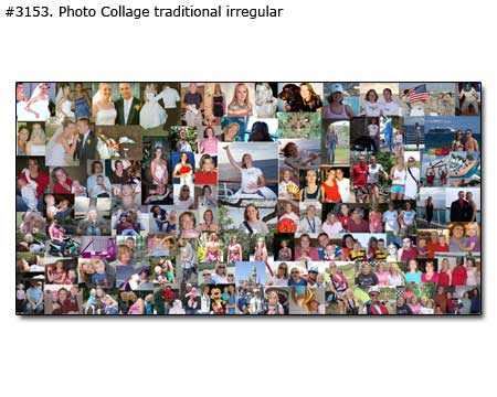 Birthday panoramic collage traditional irregular
