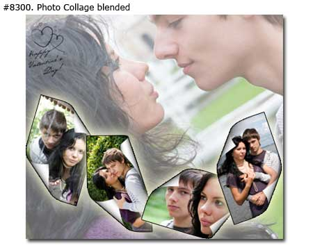 Photo collage design blended - 10 photos