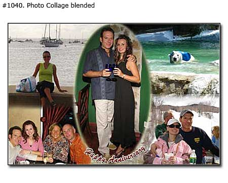 Photo collage design blended - 11 photos