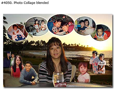 Photo collage design blended - 21 photos