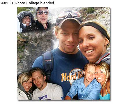Photo collage design blended - 23 photos