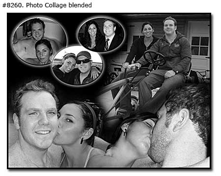 Photo collage design blended - 32 photos