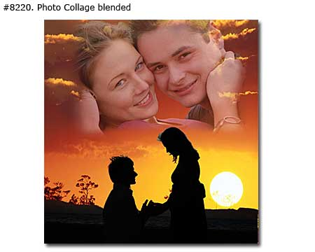 Photo collage design blended - 35 photos