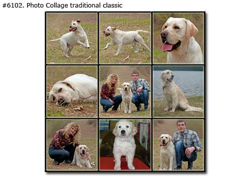 Photo collage design traditional classic - 61 photos