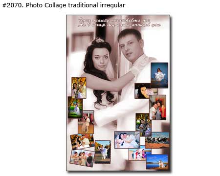 Photo collage design traditional classic - 40 photos