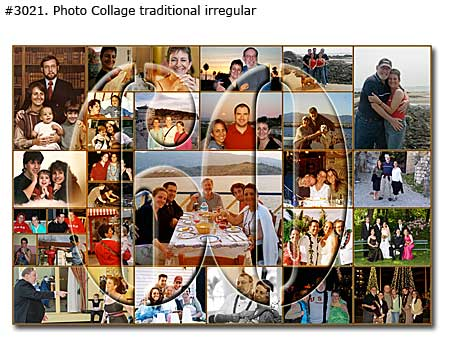 Photo collage design traditional - 44 photos