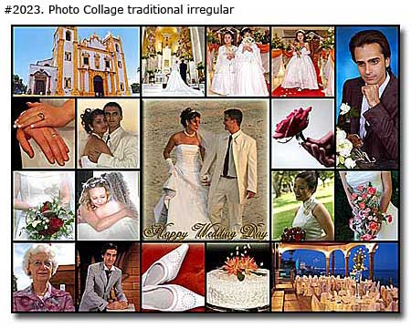 Photo collage design traditional irregular - 52 photos