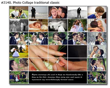 Photo collage design traditional - 54 photos