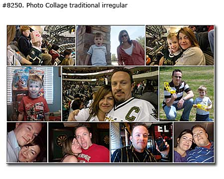 Photo collage design classic - 65 photos