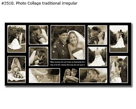 Photo collage design traditional - 67 photos