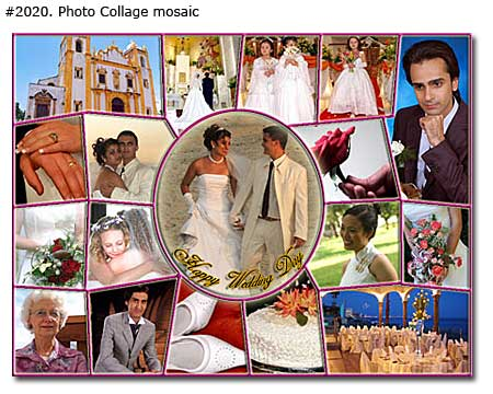 Photo collage design mosaic - 21 photos