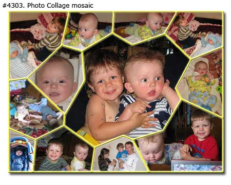 Photo collage design mosaic - 23 photos