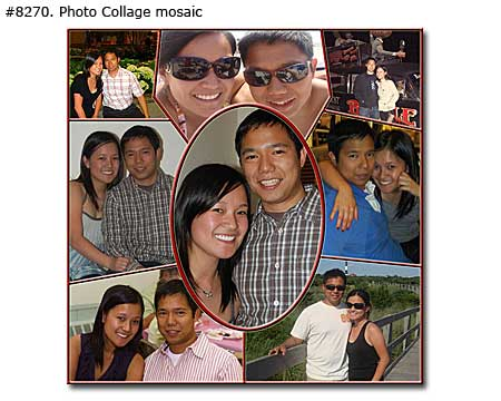 Photo collage design mosaic - 25 photos