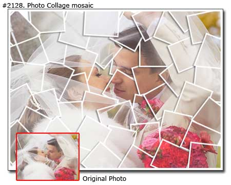 Photo collage design mosaic - 30 photos