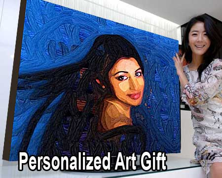 Sister portrait painting - painting from photo to canvas