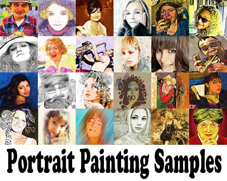 Samples of Portrait painting and drawing from photo