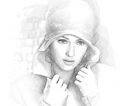 Custom drawing portrait