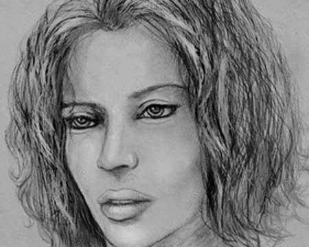 Personalized pencil sketch portrait