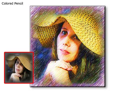 Custom Colored Pencil Drawing Self Portrait