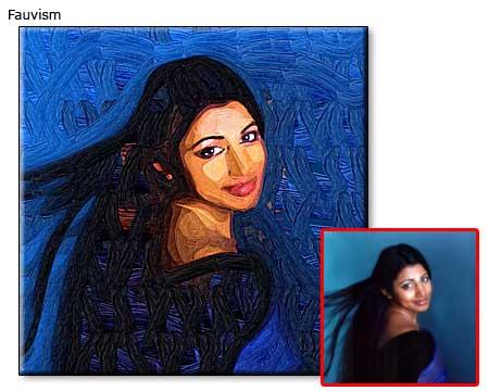 Women Portrait in fauvism
