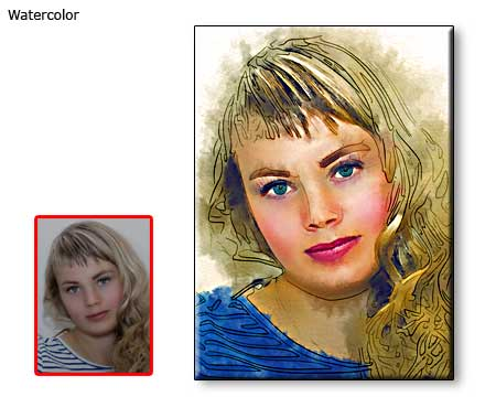 Custom Watercolor portrait painting