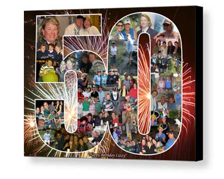 Birthday collage Board Mounting poster from your pictures